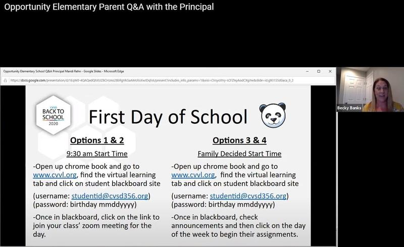 Opportunity ES Q & A with the Principal