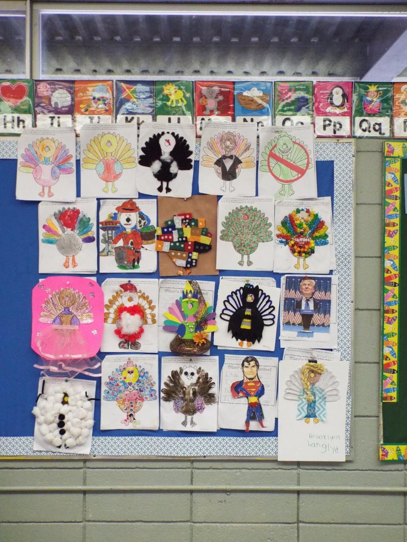 Ms. B's Kindergarten Class Turkey in Disguise