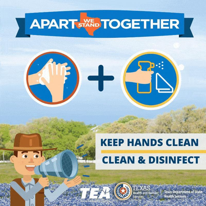 Keep Hands Clean Disinfect