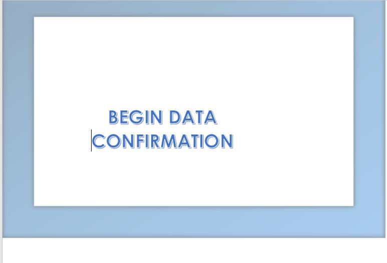 2021-2022  Data Confirmation/2021 Confirmación de Datos Featured Photo