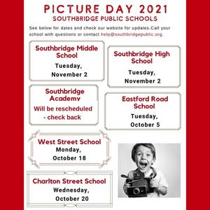 A list of school photo days in English. All information is also in the body of the post.