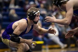 Danyk Jacobsen wrestling at the state tournament