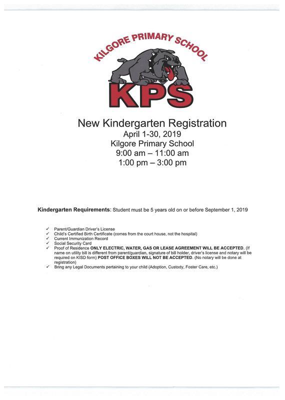 2019-2020 KINDERGARTEN REGISTRATION - APRIL 1-30 Featured Photo