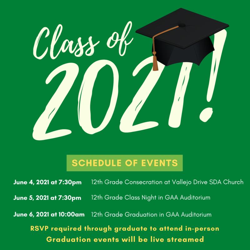 Class of 2021 Graduation Live Stream Links Featured Photo