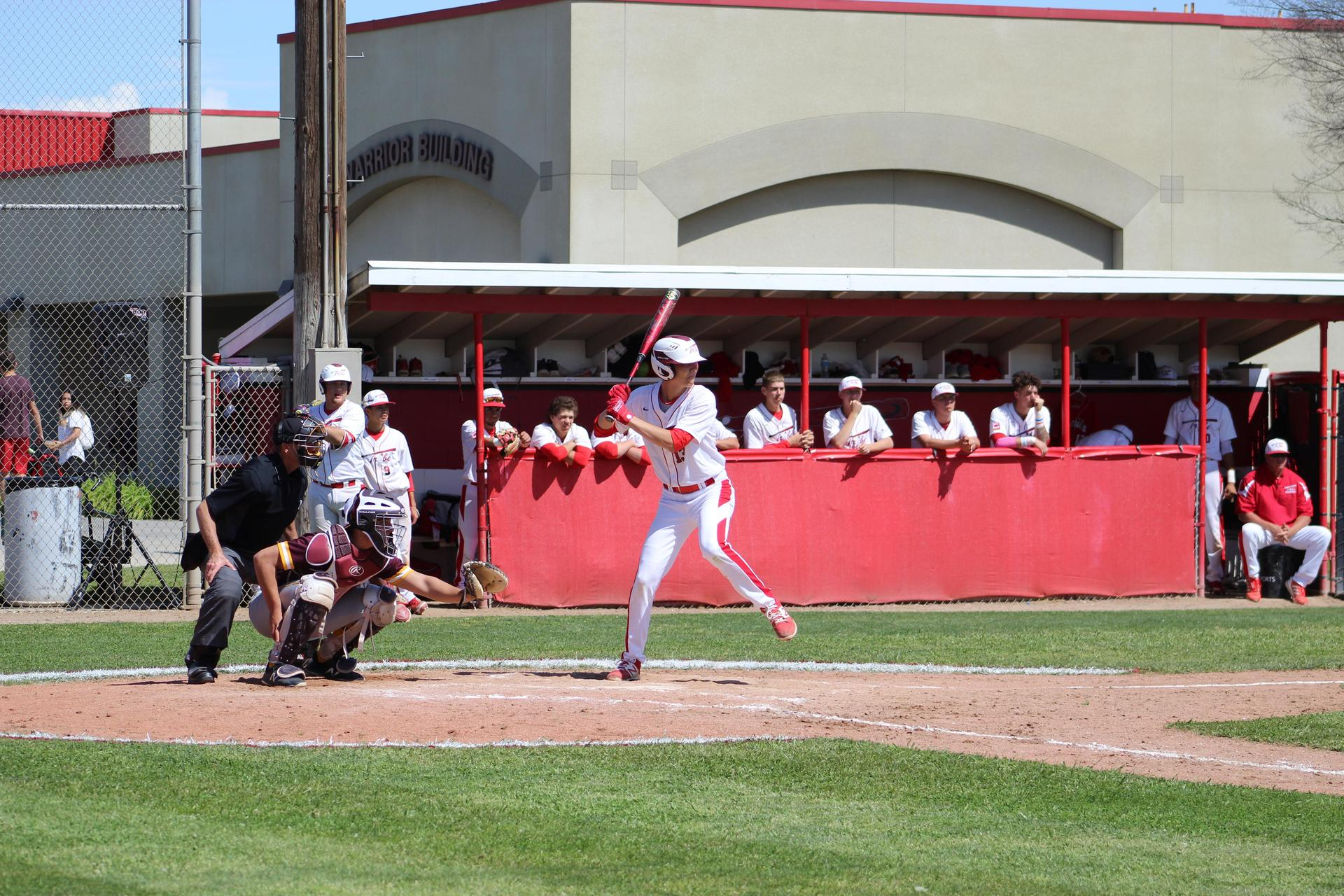 Baseball players in action against Sierra