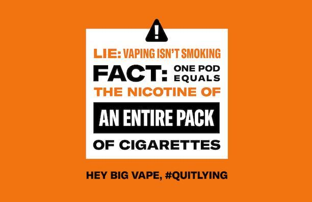 Tell Big Vape to #quitlying Featured Photo