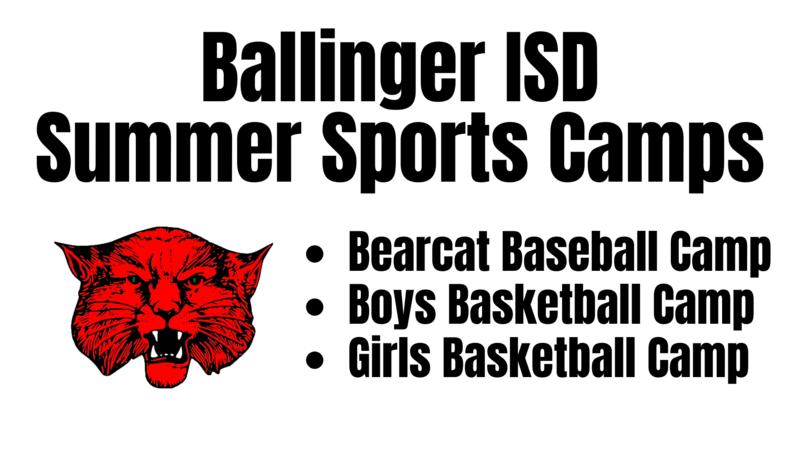Ballinger ISD Summer Sports Camp