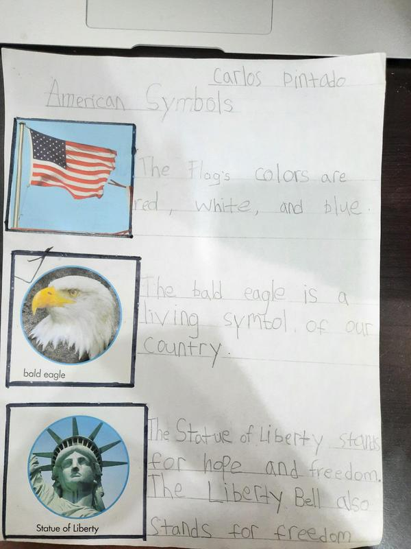 Flag, eagle, and statue of liberty facts