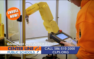 student working FANUC Robot - enroll now