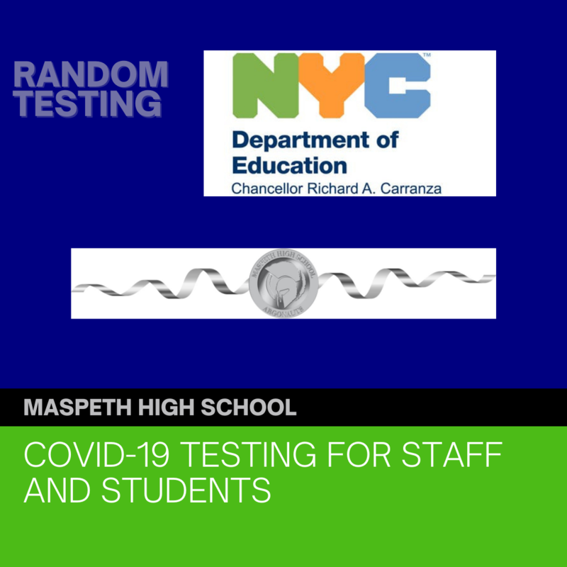 COVID 19 TESTING FOR STAFF AND STUDENTS