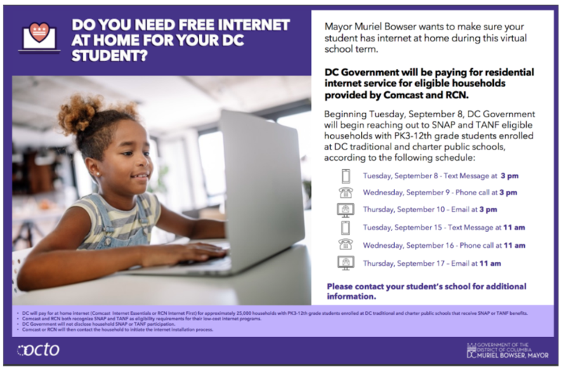 Free Internet Available to Qualifying DC Families Thumbnail Image
