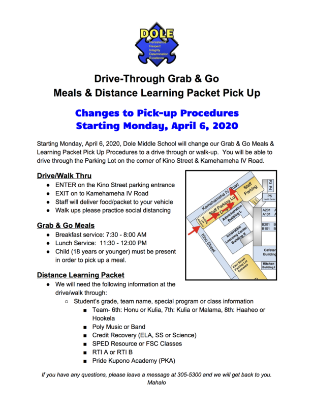 UPDATE:  Grab & Go Drive Thru starting Monday, April 6 Featured Photo