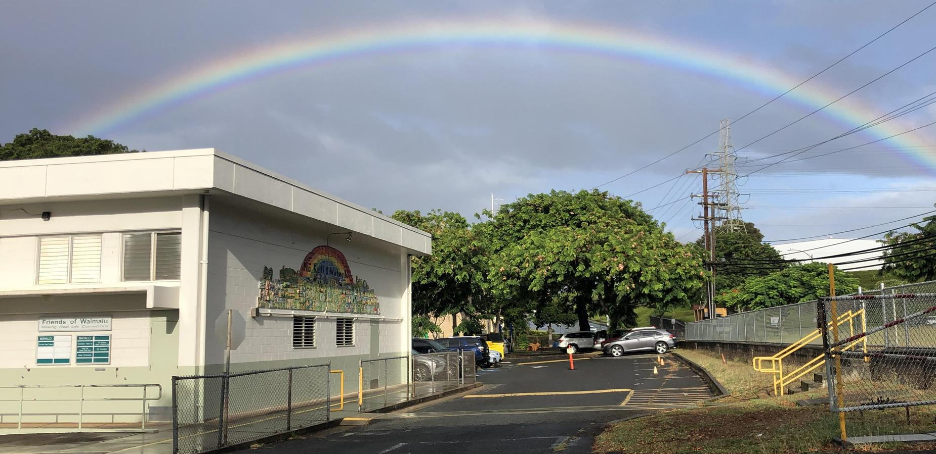 Rainbow above Waimalu
