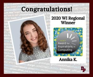 Annika K. award winner