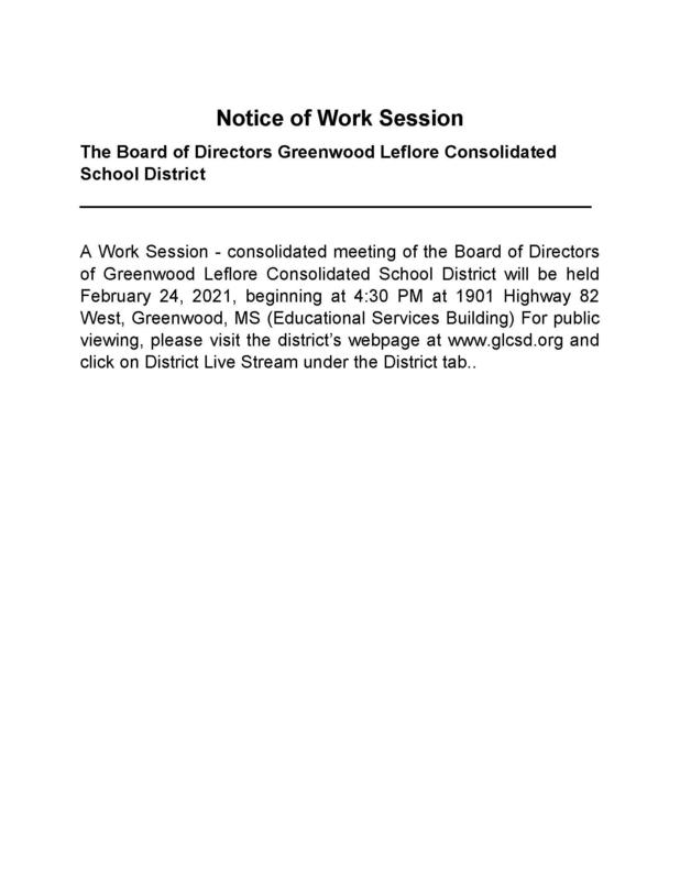 BOARD WORK SESSION SET FOR WEDNESDAY, FEB. 24 Featured Photo