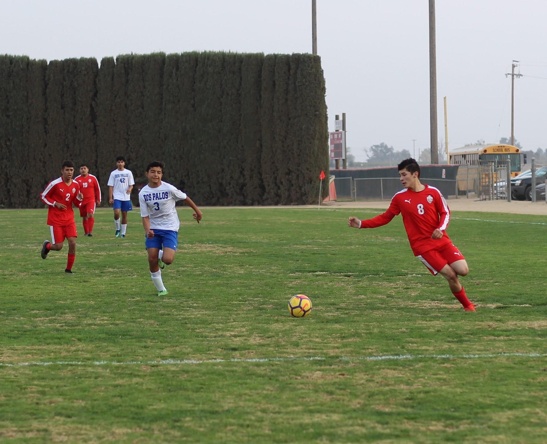 Francisco Chavez Running to the Ball