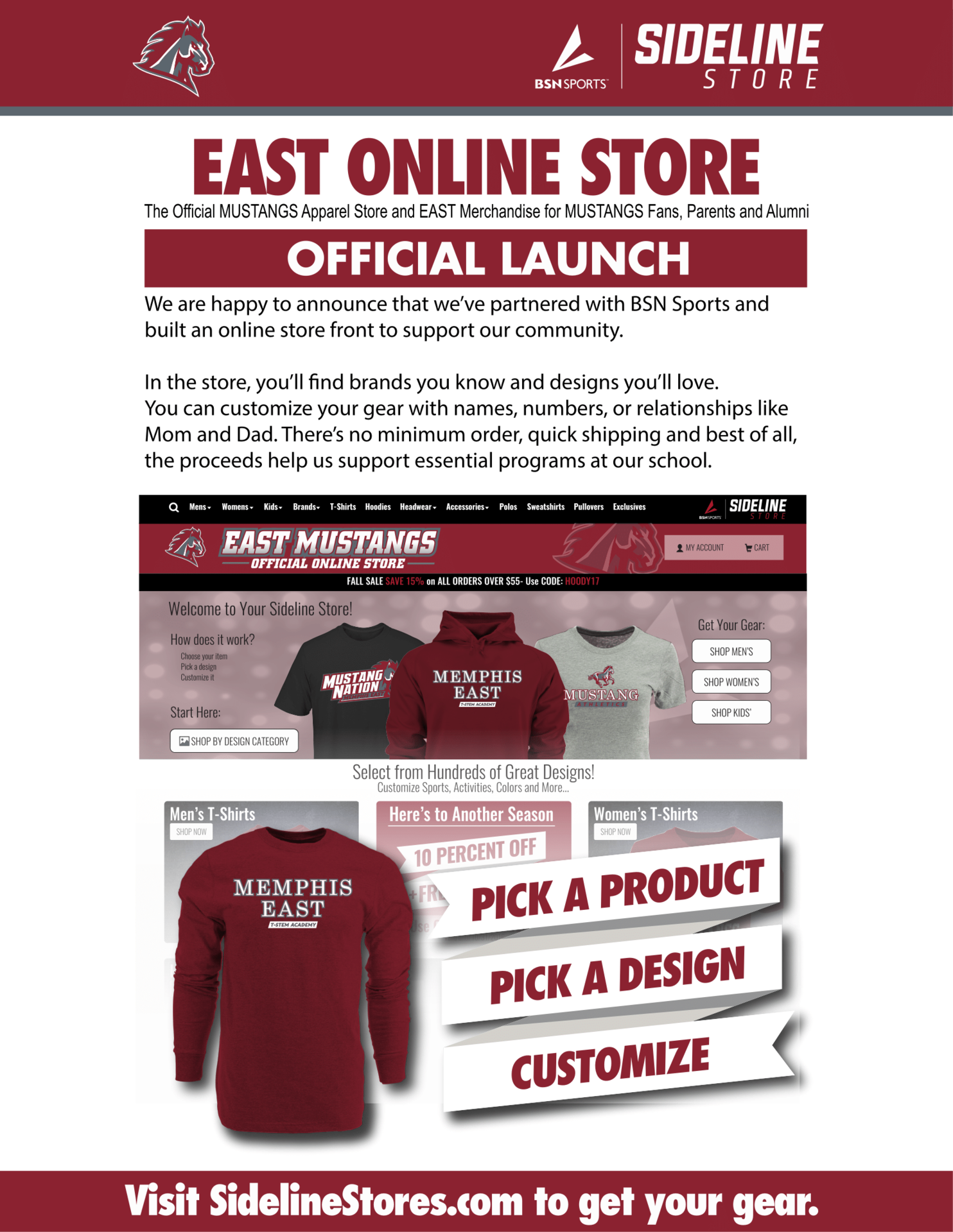 East High T-STEM Gear