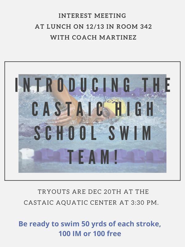 swim tryout flyer