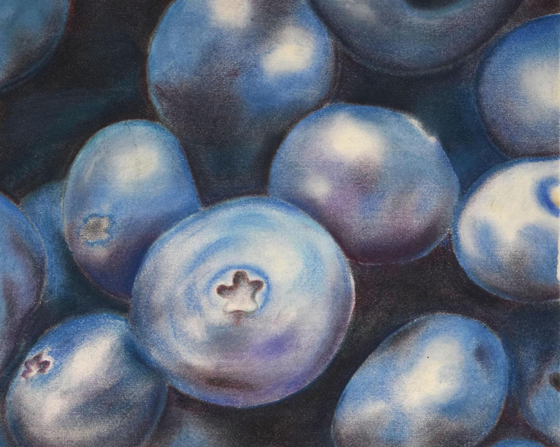 Painting, blueberries
