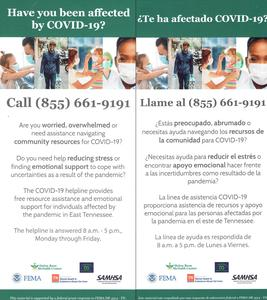 Covid 19 helpline call (855) 661-9191