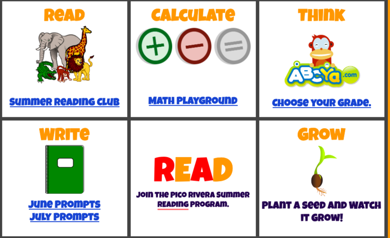 Summer Learning Resource Grid