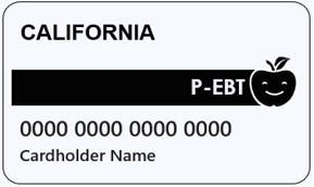 Pandemic EBT Card provided for media purposes. EBT number is 0000 0000 0000 0000.