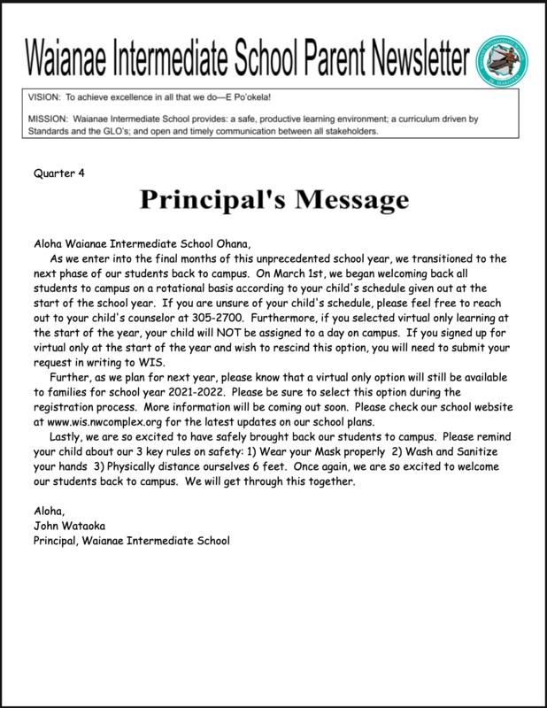 Parent Newsletter Quarter 4! Featured Photo