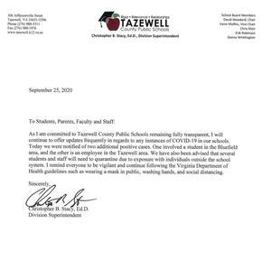 Covid letter