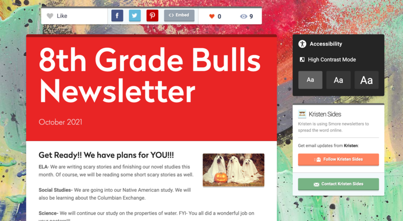 8th Grade Newsletter for October 2021 Featured Photo