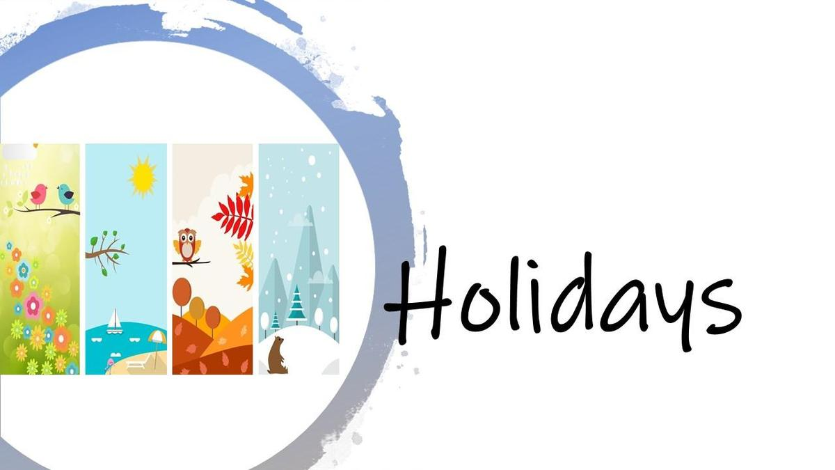Holidays header