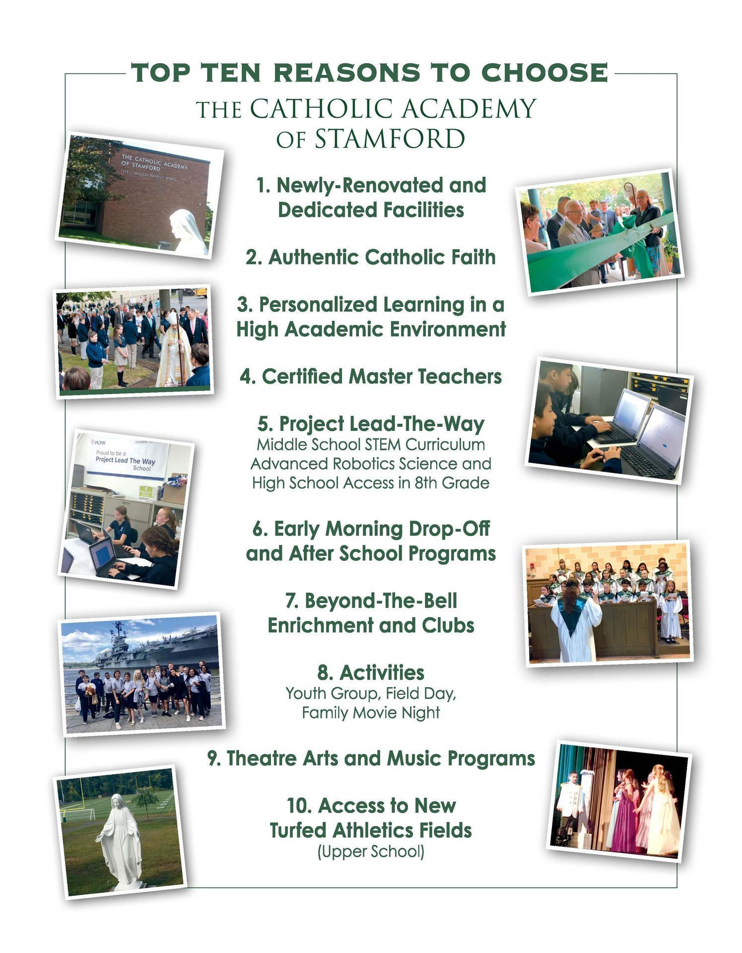 10 Reasons to Choose The Catholic Academy of Stamford