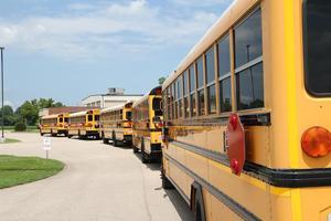 A fleet of Charleston R-I busses