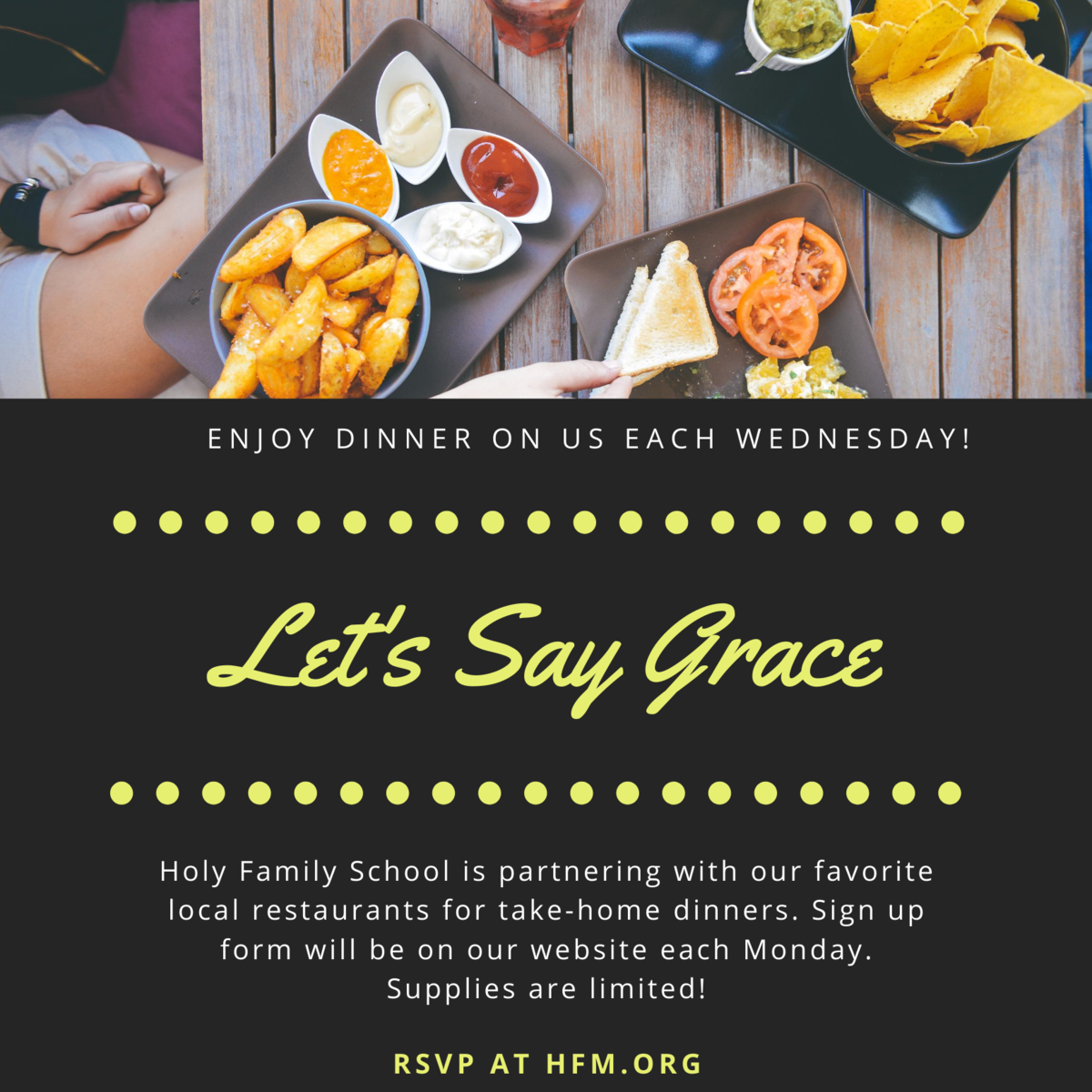 Let's Say Grace flyer