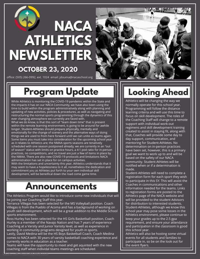 Athletics Update102320