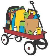 Red Wagon with Food