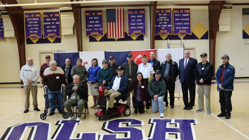 photo of veterans in attendance at the OLSH Veteran's Day Celebration event in 2019