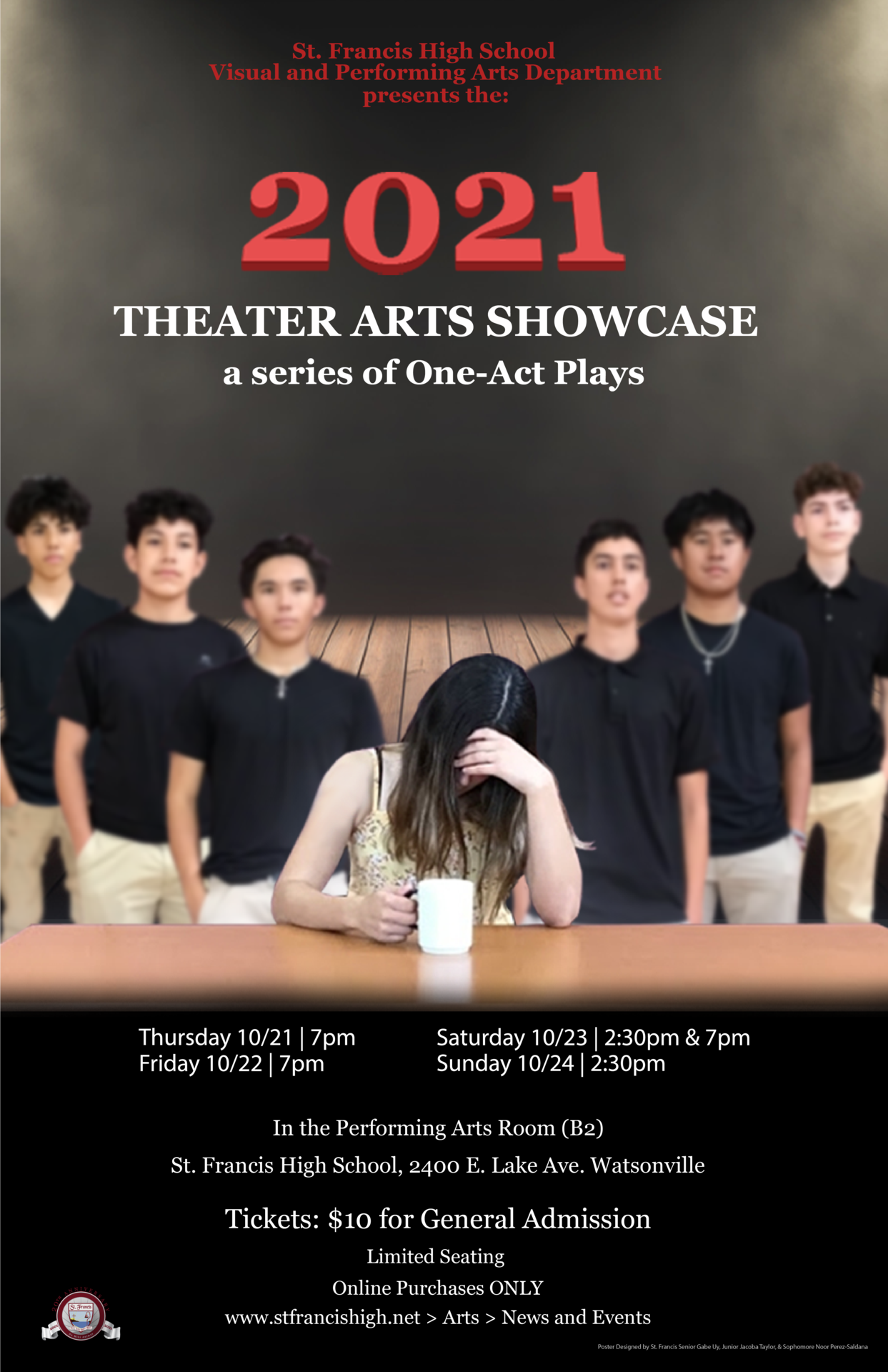 2021 Theater Arts Showcase Poster