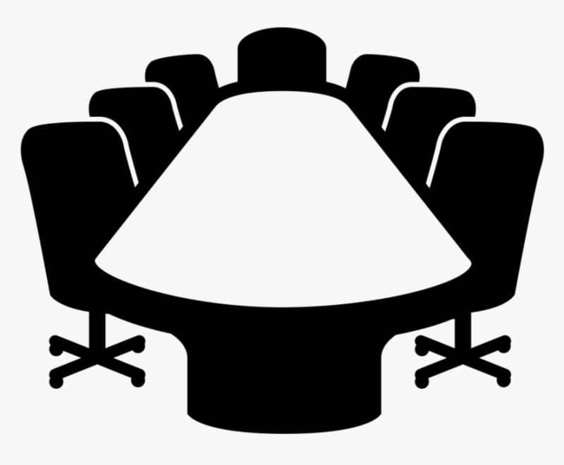 Icon of meeting table and chairs