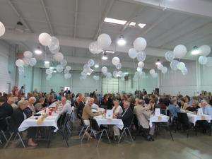 A large crowd gathered at the Barry County Expo Center for the annual banquet.