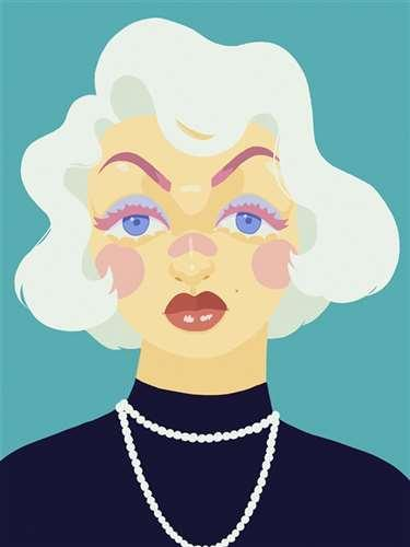 Marilyn in Pastels - Digital Media by Matthew Griffith