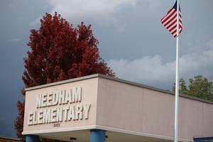 Needham School Sign