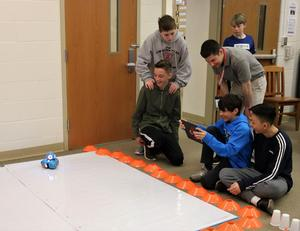 """Photo of:  Robotics was just one of the many educational and innovative activities offered during """"Maker Day"""" at Roosevelt Intermediate School from March 20-22."""