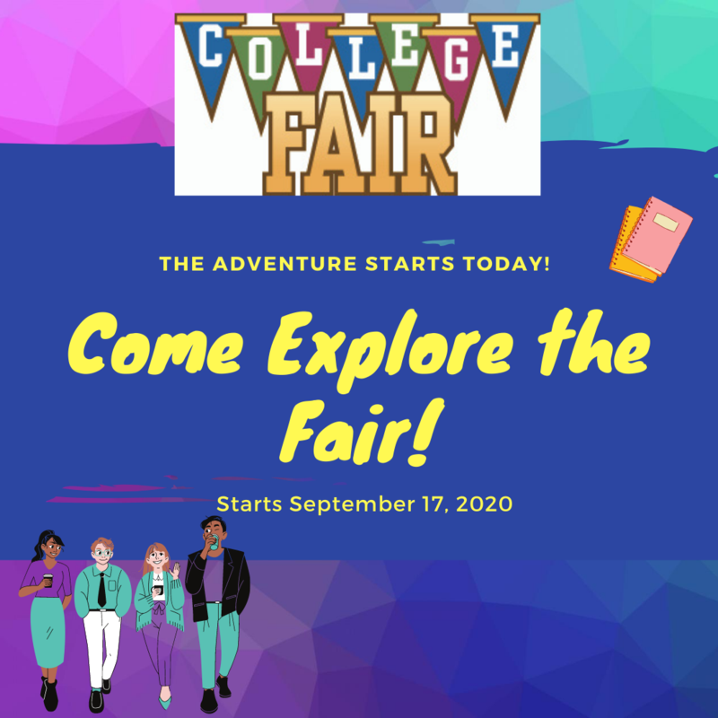 2020 Virtual College Fair! Launching on Thursday, September 17 on CCHS Counseling Canvas Page! Thumbnail Image