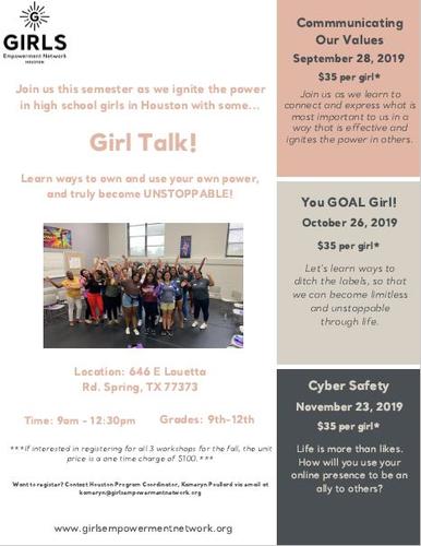 Girl Talk! Fall 2019