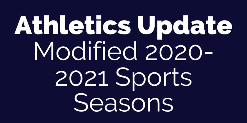 Athletics Update: Modified 2020-2021 Sports Season Calendar Thumbnail Image