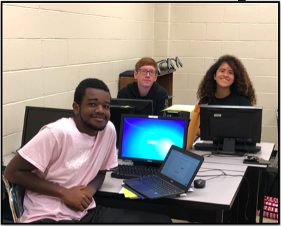 Students working at computers in Davidson County Schools