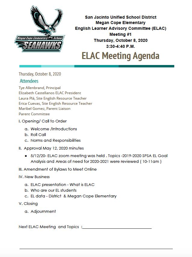 10/8/20 Agenda