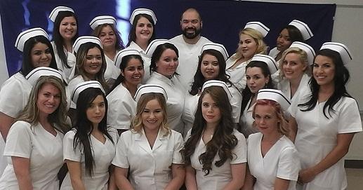 Class photo of Vocational Nursing Class 22 Graduates, February 2017