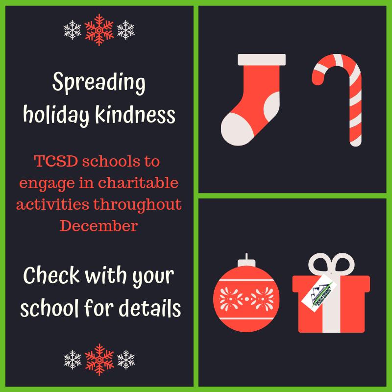 TCSD schools help spread kindness