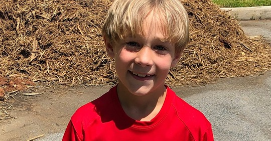 CJ Baucom, 3rd Grade student, is running for a great cause! Featured Photo